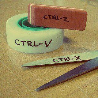 Seleccionar cortar o copiar y pegar