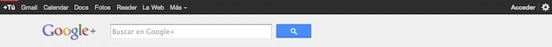barra google