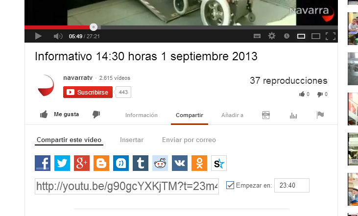 recorte youtube compartir