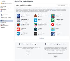 Desactivación de aplicaciones de terceros en Facebook